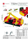 Model TSM - Knife Mulcher for Cultivators and Garden Tractors Brochure