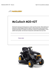 McCulloch - Model M20-42T - Side Discharge Tractors Brochure