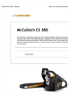 McCulloch - Model CS 380 - Chainsaw Brochure