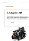 McCulloch - Model M22-46T - Side Discharge Tractors Brochure