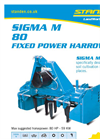 Standen - Model Sigma M 80 - Fixed Power Harrows - Brochure