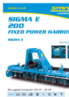 STANDEN SIGMA E200 Power Harrows Brochure
