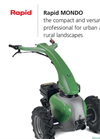 Rapid - Model MONDO - Single Axle Walk Behind Tractors Brochure