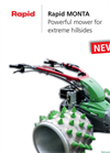 Rapid - Model MONTA - Single Axle Walk Behind Tractors Brochure