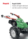 Rapid - Model EURO - Single Axle Walk Behind Tractors - Brochure