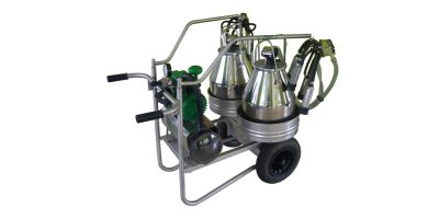 MELKER - Model 2 buckets - Inox Portable Milking Machine