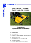 Model TM 2W1150 - Light/Medium Rotary Mower Brochure