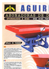 Aguirre - Model AP - Pendulum Fertiliser Spreader for Precision Farming - Brochure