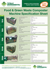 Food & Green Waste Composter Machine Specification Sheet- Brochure