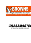 Grassmaster - Model 2m - Spring Tine Grass Harrow- Brochure