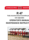 Model R47 - Medium Reversible Mounted Ploughs - Manual