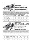 Rear Type Plant Baring and Ridging Machines- Brochure