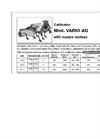 Vario - Model AG - Cultivator Brochure