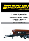 SP400, SP450, SP500, SP550 - Litter/Poultry Spreader Manual
