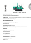 Model TR 615 - Reversible Mini Crawler- Brochure