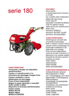 Model 180 Series - Motor Cultivators Brochure