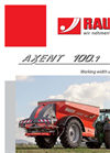 AXENT - Model 100.1 - Precision Large Area Spreader Brochure