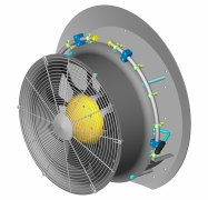 Fieni - Model D.550-74SFVPLDSN - Fan Assemblies for Agricultural Sprayers