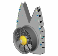Fieni - Model D.815-49VNS - Fan Assemblies for Agricultural Sprayers