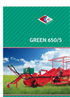 Carlotti - GREEN 650/5 - 750/5 - Single-Row Potato Digger-Harvester - Brochure