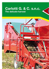 Carlotti - SPRING Series - Single-row Potato Digger-Harvester - Brochure