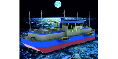Model FFB400 - Aquaculture Feeding Barges