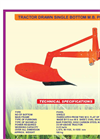 Tractor Drawn Single Bottom M.B. Plough Brochure