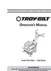 Troy-Bilt - Colt - Front-Tine Garden Rototiller - Manual