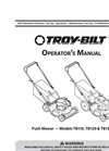 Push Mower - Models TB110, TB120 & TB130 - Push Mower - Manual