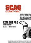 Extreme Pro - Model LBXP17-GX390 - High-Velocity Leaf and Debris Blower Brochure