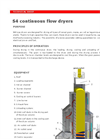 S4 - Continuous Flow Dryers Brochure