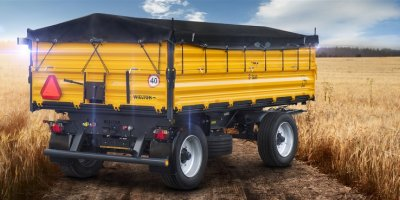 Model PRS-2/W8 - 3 Side Tipper Agricultural Trailer