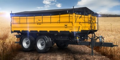 Model PRC-2/W8 - Tandem Axle 3 Side Tipper Agricultural Trailer