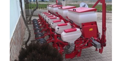 Model 6000 D - 48 Row Pneumatic Grain Planting Machine with Fertilizer Reservoir