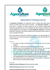 Aquaculture Training Courses Brochure