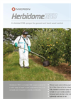 Micron - Model Herbidome 350 - Shielded Sprayer for Weed Control - Brochure
