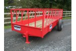 Diagonal Bar Cattle Feed Trailer