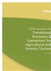 CEMA Brochure on Transitional Provisions for Engine Emission Legislation for Tractors