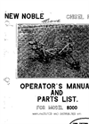 Model 8000 - Chisel Plow  Manual