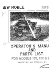 Model 170, 210 & 250 - Air Seeder Manual