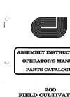 Model 200 - Field Cultivator Manual