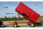 Model #1003  - Hydraulic Dump Drying Wagon / Trailer