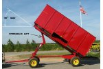 Model 14 - Hydraulic Dump Drying Wagon / Trailer