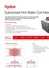 Hydor - Galvanised Hot Water Coil Heater Brochure