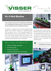 Visser Horti - Model Pic-O-Mat Blueline - Manual Transplanter Specifications Brochure