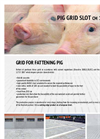 Slotted Flooring for Pigs GRID FOR FATTENING PIG- Brochure
