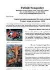 Tuthill - Model M2000 - Self-Propelled Cider Fruit Harvester- Brochure