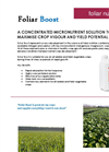 Foliar Boost - Brochure