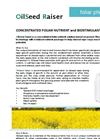 OilSeed Raiser - Brochure