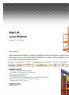 High Lift Access Platform Forklift Attachment Brochure